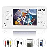 Retro Handheld Games for Kids Built in 218 Classic Old Style Electronic Game 3.5'' Screen with Earphone Jack USB Rechargeable Portable Video Player Children Travel Holiday Entertain-White