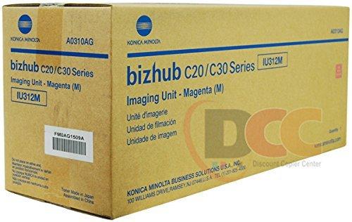 Genuine  IU312M Magenta Imaging Unit for Bizhub C20 C30P C31P - Konica Minolta A0310AG