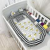 Multifunktionale Baby Nest Babybett Stoßstange Einfache Cartoon Cotton Infant Tragbares Bett im Bett, für Kleinkinder Kleinkinder - 100% Baumwolle Krippe Matratze für Schlafzimmer Reise