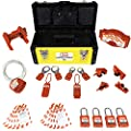 TSafe Industrial Lockout Tagout Kit- with Loto Padlocks, Hasps, Ball Valve Loto, Cable Loto, Gate Valve Loto, Circuit Breaker Loto's, Tags from TSafe