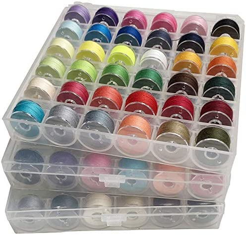 Hulless 108 Pcs Bobbins Sewing Thread Standard Size Multi Colored for Multiple Sewing Machine product image