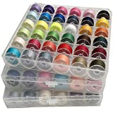 Hulless 108 Pcs Bobbins Sewing Thread Standard Size Multi Colored for Multiple Sewing Machine Embroidery Thread Sewing Thread DIY.