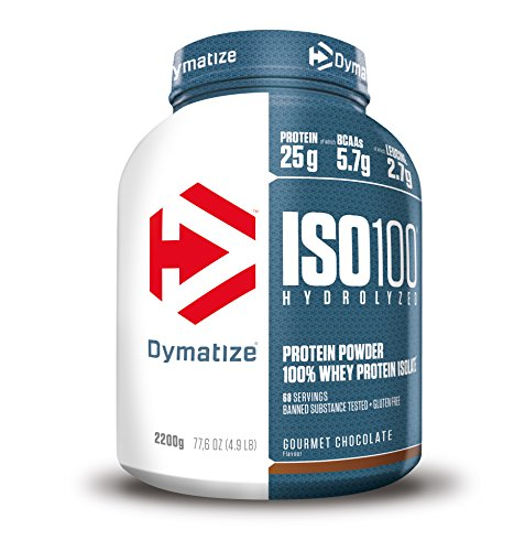 Dymatize Iso100 Hydrolyzed Protein Powder, Gourmet Chocolate, 2.2kg