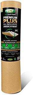 Eco Cork Foam Underlayment, 75 sq. ft. - The ONLY one with a BUILT-IN 6 mil Vapor Barrier