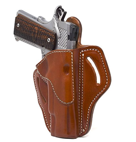 1791 GUNLEATHER Right Hand OWB Leather Gun Holster for Belts fits All 1911 Models with 4' and 5' Barrels (Classic Brown)