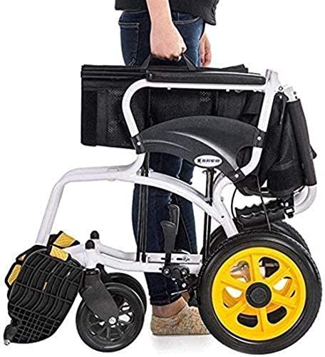 Silla de Ruedas autopropelada portátil con cinturón de Seguridad, diseño Oculto del Pedal de Giro Lateral, Adecuado for Ancianos y Personas Que Necesitan Cuidado y Ayuda