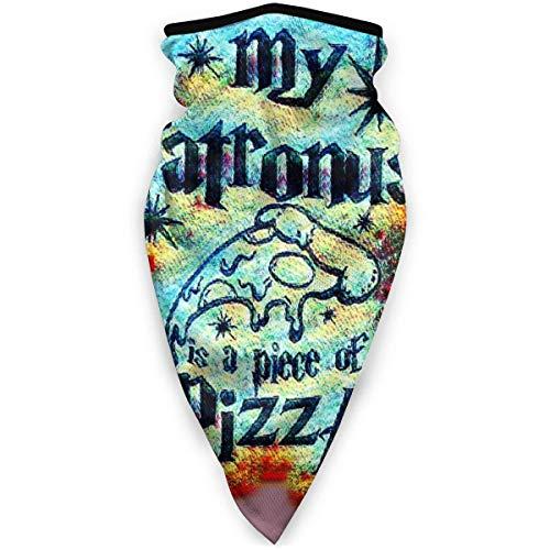 C/N Mi Patronus es una pizza al aire libre cara máscara de boca a prueba de viento deportes máscara de esquí escudo bufanda bandana hombres mujer mens bufanda