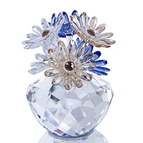 WMYATING Los regalos del día de San Valentín son de gran importancia y pequeños adornos de cristal con margaritas para tocador, decoración de hogar o sala de estar.