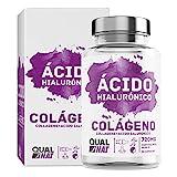 Colágeno Marino con Ácido Hialurónico Cápsulas | Vitamina C| Para Una Piel Radiante y Un Buen Mantenimiento de las Articulaciones – 90 Cápsulas - Qualnat