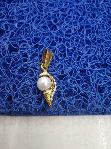 UK Galaxy Store - Locket de perlas Shankh Shankha con colgante de concha y medallón energizado