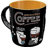 Nostalgic Taza de café retro-Art All Types of Coffee
