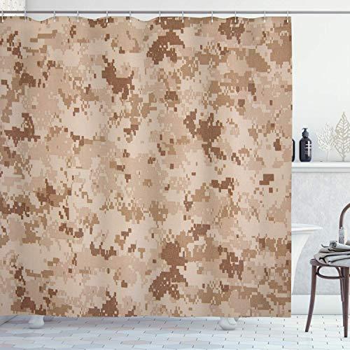 Babydo Bad Vorhang Camo Us Marine Desert Marpat Digital Textur Hintergrund In Braun Farben Hellbraun Muster 183X183Cm Duschvorhang Bunte Hotels Modernes Standard Badezimmer Dekor S