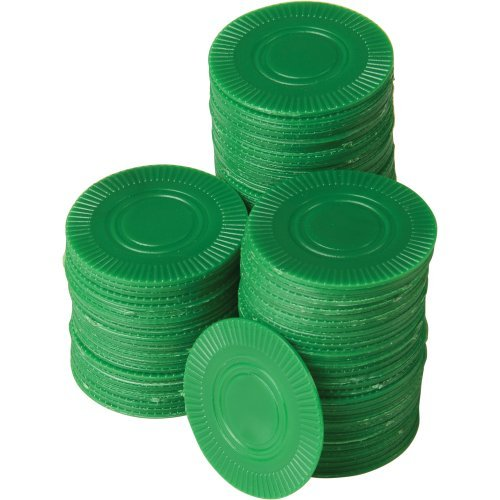 Best Buy! DollarItemDirect Green Poker Chips 100-Pc, Sold by 19 Packs