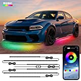 Car Underglow Lights, LEDCARE 6 Pcs Exterior Car LED Strip Lights with Dream Color Chasing, 210 Modes Wireless APP Control Underbody Lights, Waterproof Car Neon Accent Lights Kit, Music or DIY Modes