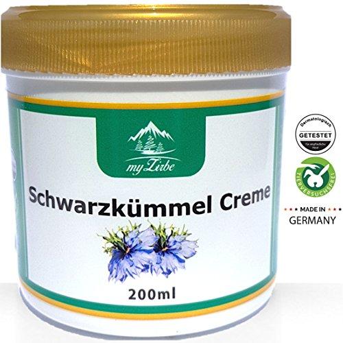 Schwarzkümmel Creme 200 ml wohltuende Wirkung bei Neurodermitis, Akne oder Schuppenflechte