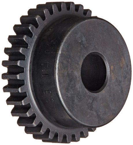 Martin S2430 Spur Gear, 14.5° Pressure Angle, High Carbon Steel, Inch, 24 Pitch, 3/8' Bore, 1.333' OD, 0.250' Face Width, 30 Teeth