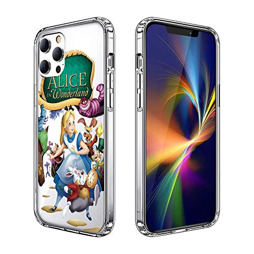 Phone Case for iPhone 12 Pro Max Case, Clear Phone Case Individualized Design Cover Case (Alice-in-Wonderland)