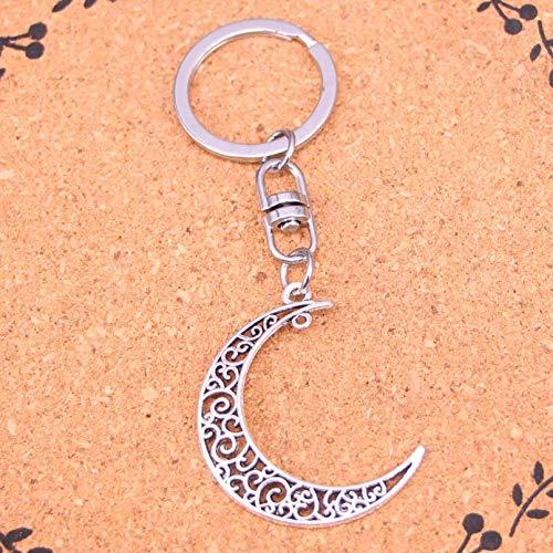 HGFJG Moda Luna Hueca Llavero Colgante Llaveros Bolso De Hombro Monedero Accesorios De Coche para Mujeres Niña Niños Regalo