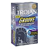 Trojan Groove Lubricated Condoms, 10 Count