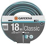 Gardena Classic Schlauch Aktion 13 mm (1/2 Zoll), 18 m: Universeller Gartenschlauch aus robustem Kreuzgewebe, 22 bar Berstdruck, UV-beständig, ohne Systemteile (18001-20)