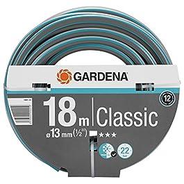 Tuyau Classic de Gardena 13 mm (1/2″), 18 M: Tuyau D'Arrosage Universel en Tissu Croisé Robuste, Résistance à l'Éclatement de 22 Bars, Résistant aux Uv, Sans Pièce du Système (18002-20)