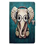 Foto Bspring Custodia per Il Nuovo Kindle Fire HD 8 2017, più Sottile e Leggero Pieghevole PU + PC Telaio Interno Smart Case Cover con Funzione Sleep/Wake per Amazon Kindle Fire HD 8 2016/2017, Elefante