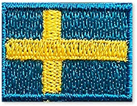 スウェーデン 国旗 アイロン ワッペン (プチ 約25mmx18mm)