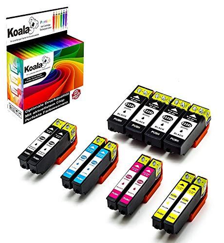 12 Koala Cartuccia d'Inchiostro Sostituzione per Epson Expression Premium 33XL T3351 T3361 T3362 T3363 T3364 per Epson XP-7100 XP-540 XP-530 XP-900 XP-630 XP-640 XP-830 XP-635