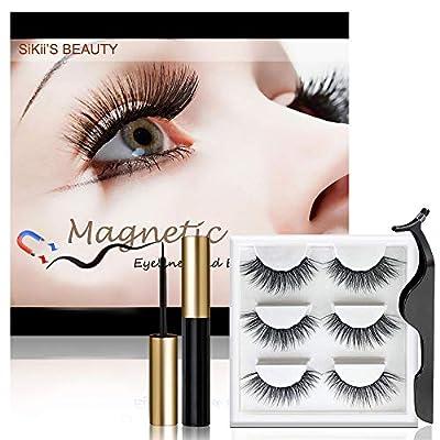 Magnetic Eyelashes with Eyeliner, Magnetic Lashes and Eyeliner, False Eye Lashes Kit With Applicator, Natural Look, Waterproof, No Glue Needed Eyelashes Set (3 Pairs Style)