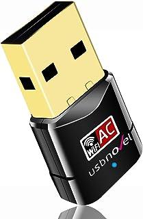USBNOVEL USB WiFi Adapter-Dual Band 2.4G/5G WiFi Dongle 802.11 ac Mini Wireless Network Card 600Mbps with High Gain Antenn...