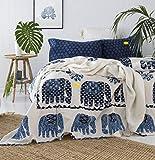 FAB NATION Cotton 600 TC Bedsheet (Blue_Queen)
