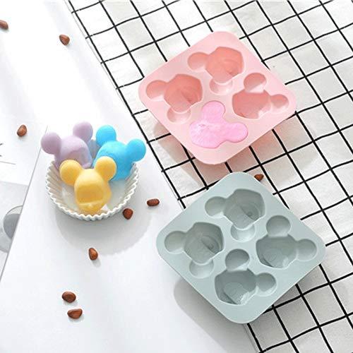Nobrand Molde de silicona para pastel de Mickey molde para pasteles, las herramientas moldes de chocolate, moldes de fondant Sugar pasteles, dulces, diseño de pastel, silicona, Mickey