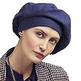 Christine headwear - Berretto Marie · V Beret (Stampa Denim) per chemioterapia/Alopecia, Collezione Viva Headwear