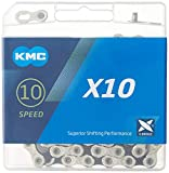 KMC X10-116L, NP/BK 10 Speed Bicycle Chain