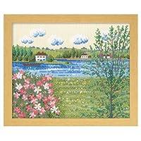 オリムパス製絲 7362 ししゅうキット セーヌ河の春(フランス)
