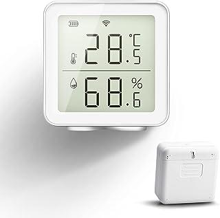 Smart wifi-thermometer, hygrometer, compatibel met Alexa Smart Life app, digitale temperatuursensor, temperatuur- en lucht...