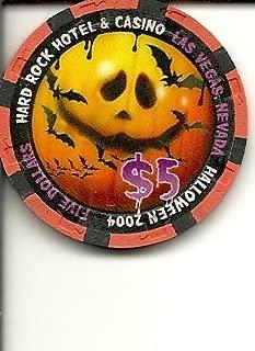 $5 hard rock 2004 halloween obsolete las vegas casino chip