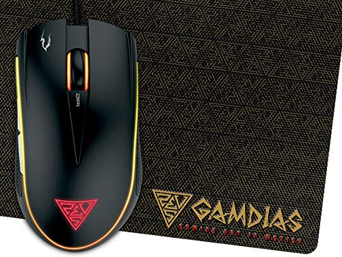 GAMDIAS Zeus E2 Scroll-Rad, PC-Maus, PC/Mac, 2-Wege, Gaming Produkt