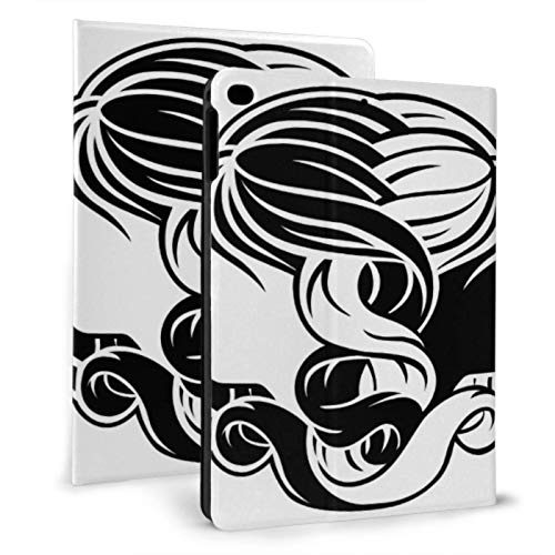 Magnetic Ipad Cover Gemini Long Hair Beauty Girls Cover For Mini Ipad For Ipad Mini 4/mini 5/2018 6th/2017 5th/air/air 2 With Auto Wake/sleep Magnetic Ipad Case Protective Case