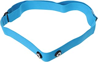 taxiner Adjustable Heart Rate Monitor Waterproof Bluetooth Control Soft Chest Strap Part Blue
