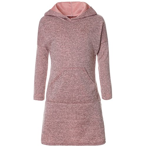 BEZLIT Mädchen Pullover Kleid Long Tunika Langarm Kapuze 21579 Rosa Größe 104