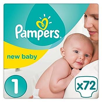 Pampers Premium Protection Baby Windeln, Gr.1 Newborn (2-5 kg), Halbmonatsbox, 1er Pack (1 x 72 Stück)