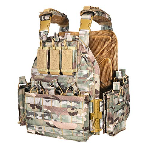 vAv YAKEDA Outdoor Tactical Military Vest Airsof Vest for Men (CP)