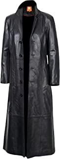 Jacket Collection Original Leather, Trench Coat, Black Long Coat, Duster, Overcoat, Sheepskin for Men