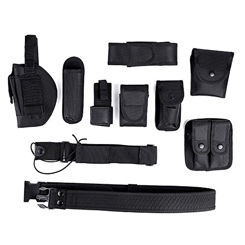 Bibite ✯ 10 in 1 Police Security Guard Modular Enforcement Equipment Duty Belt Tactical 600 Nylon