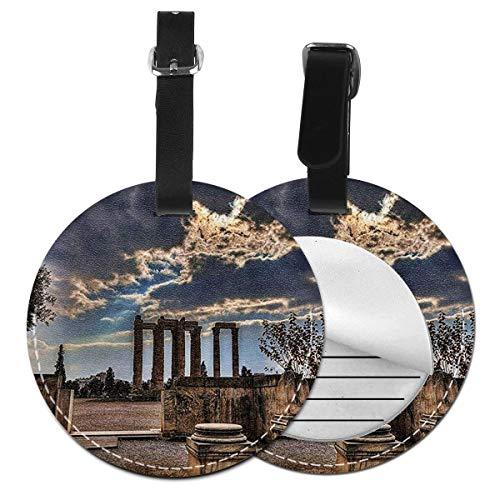 Etiquetas para Equipaje Bolso ID Tag Viaje Bolso De La Maleta Identifier Las Etiquetas Maletas Viaje Luggage ID Tag para Maletas Equipaje Templo olímpico