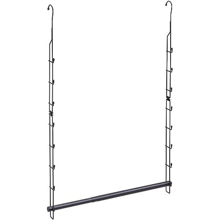 Belca 衣類収納 クローゼット吊り下げハンガー 伸縮タイプ 幅49~79×奥行6.5×高さ97.7cm ブラック CH-EX