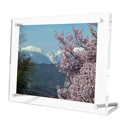 Bilderrahmen A4 29,7 x 21 cm, Tabletop Desktop Fotorahmen Display Rahmen für die Dekoration von Dokumenten mit Zertifikatgrafiken aus klarem Acryl
