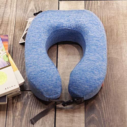 Almohada Avestruz Almohada de Viaje Protege la Almohada de la Almohada en Forma de U Viajes vértebra Cervical de Espuma de Memoria Almohadilla de la Siesta (Color: Azul) (Color : Blue, Size : -)
