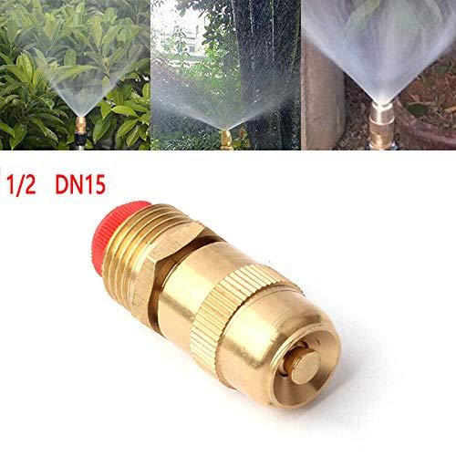 TOOLSTAR Sprinklerdüse, 5 Stück, 1,27 cm (DN15), Kupferkugel-Sprüher, Industrie, entfernt Staubkühlung, Zerstäuberungsdüse, einstellbare Durchflussrate, gold